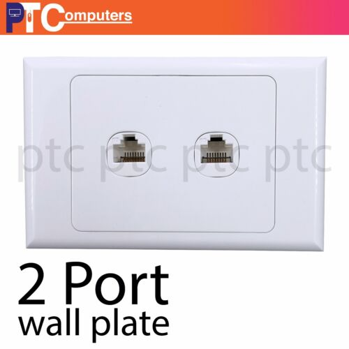 2 port/Gang RJ45 Ethernet Wall Plate Kit Punch Down Network Data wall socket