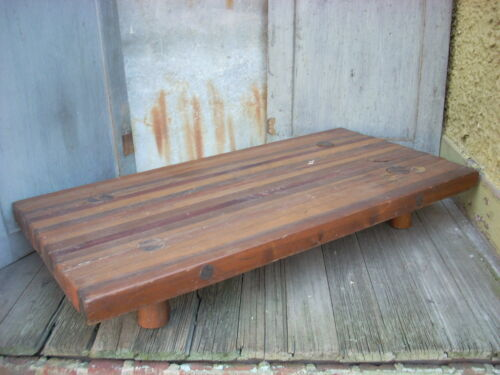 "Antique Primitive Wood Bread Board Butcher Block Riser LARGE 36"" x 18"" x 6""h"