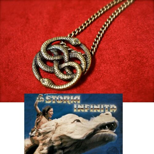 LA STORIA INFINITA COLLANA AURYN AURIN NECKLACE NEVERENDING STORY COSPLAY FILM