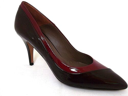 PACO GIL LADIES PLUM-RIOJA PATENT LEATHER HEELS COURT SHOES WOMANS UK 5 - EUR 38