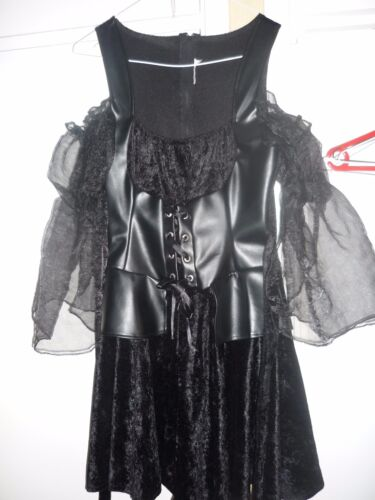 Witch dress black short ladies