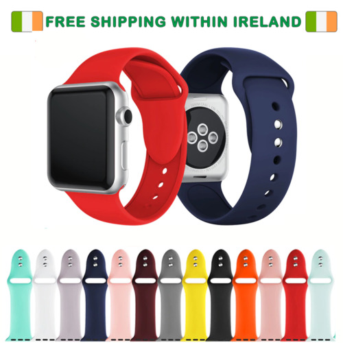 Apple watch strap - Replacement silicone straps for 42MM and 44MM SERIES 2,3,4,5 <br/> ✔ IRISH STOCK ✔ FREE SHIPPING ✔ SHIPS FROM IRELAND