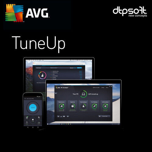 AVG TuneUp 2021 3 DEVICES 3 PC's 2 YEARS AU