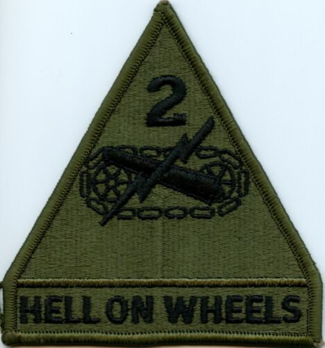 2nd Armored Division subdued patch US Army surplus Hell On WheelsArmy - 48824
