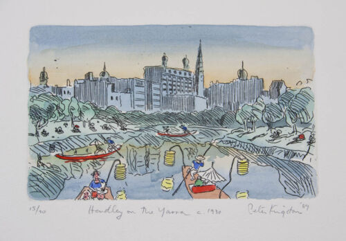 Peter KINGSTON Hendley on the Yarra c.1930 etching on paper