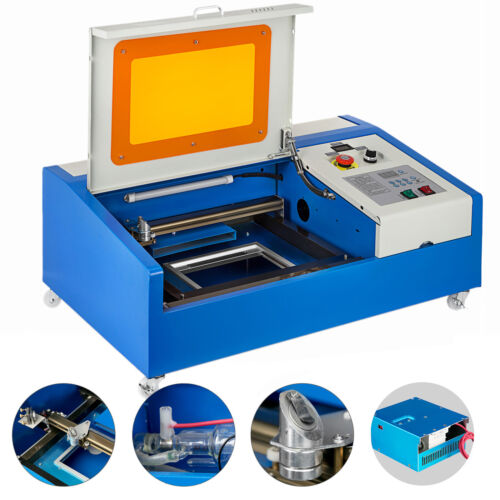 40W CO2 Laser Engraving Cutting Machine Engraver Cutter USB Port 300mmx200mm <br/> ♪♪Premium Laser Head ♪♪High Precision ♪♪With Wheels