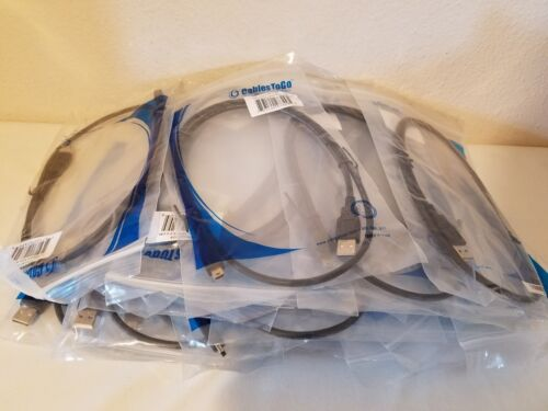 WHOLESALE LOT of 25 C2G Cables to Go 27329 USB 2.0 A to Mini-B 1m Digital Camera