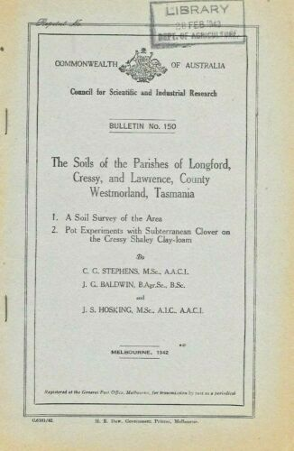 SCIENCE PAPER …The Soils of the Parishes of Longford, Cressey Tasmania