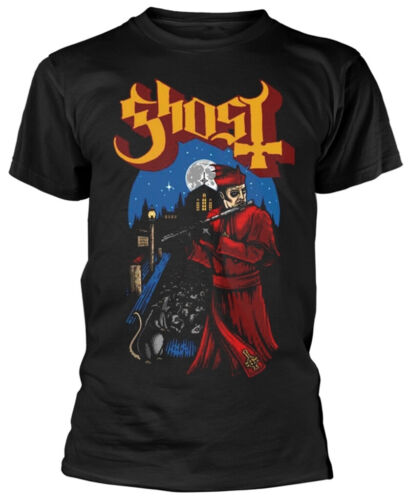 Ghost 'Advancing Pied Piper' (Black) T-Shirt - NUOVO E UFFICIALE!