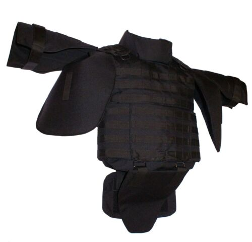 Black Vest Plate Carrier MOLLE with deltoid & coccyx elementsOther Current Field Gear - 36071
