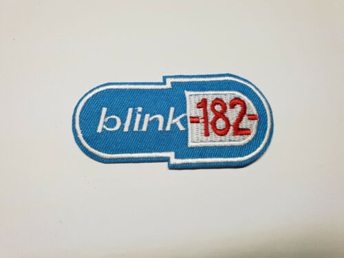 Quality Iron/Sew on blink 182 logo Patch Punk rock music pill my age again