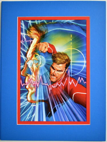 The BIONIC MAN  #2 Cover PRINT Professionally MATTED Alex Ross