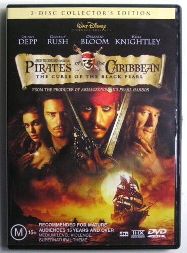 Pirates of the Caribbean: The Curse of the Black Pearl (2003) DVD MOVIE 2 DISC