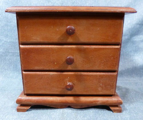 Antique/Vintage Salesman Sample or Dollhouse 3 Drawer Cherry Dresser