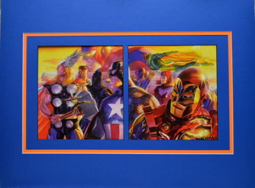 AVENGERS - INVINCIBLE PRINT PROFESSIONALLY MATTED Alex Ross art