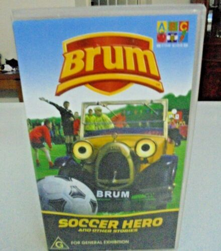BRUM Soccer Hero and other stories -ABC for Kids VIDEO VHS Tape