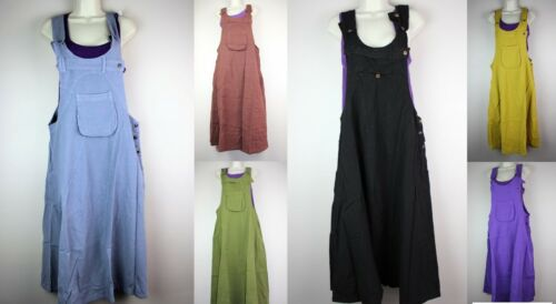 Dungarees Dress Baggy Jumpsuit SkritsHippy Harem Pants Overall Strap Cargo RD1