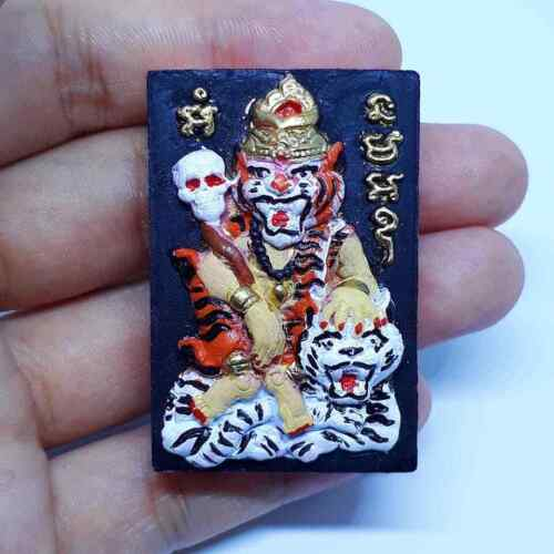 Tiger Amulet LP Ruam Thai Magic Attraction Success charm Wealth Lucky Protection