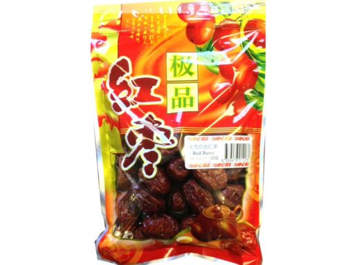 Dried Chinese red dates Red Dates Fully Dried Nutrient Rich 150g