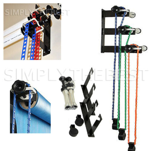 Photography 3-Roller Backdrop Wall Ceiling Mount Bracket Background Support Kit