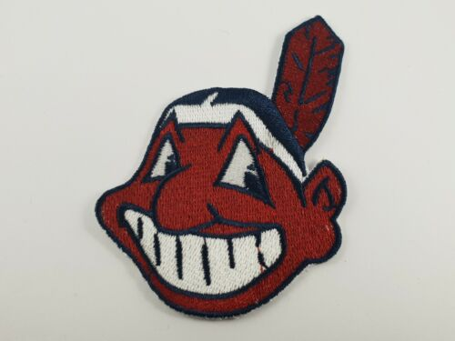 Quality Iron/Sew on Cleveland Indians logo patch MLB Chief Wahoo Major League 2