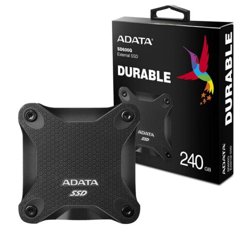 Adata 240GB Ultra-Speed External Solid State Drive Shock Resistance USB3.1 Black