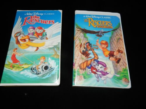 Walt Disney Classics The Rescuers And The Rescuers Down Under Video's