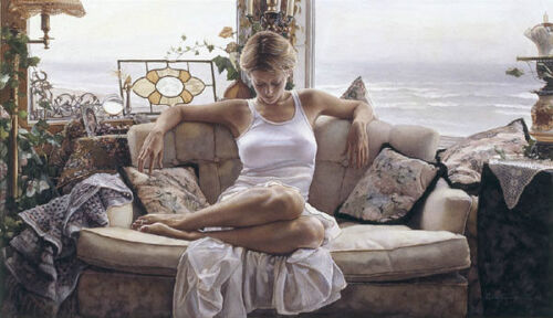 """Steve Hanks """" To Search Within """" Canvas Artist Proof #163/165 W/CERT Mint Rare"""