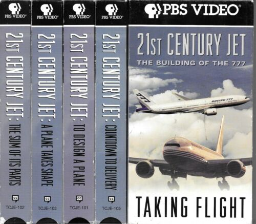 VHS PBS Video 21st Century Jet building of the 777 x5 tapes design delivery '96