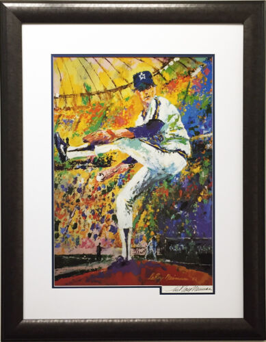 LeRoy Neiman GAYLORD PERRY Hand SIGNED Lithograph Newly FRAMED Seattle Mariners