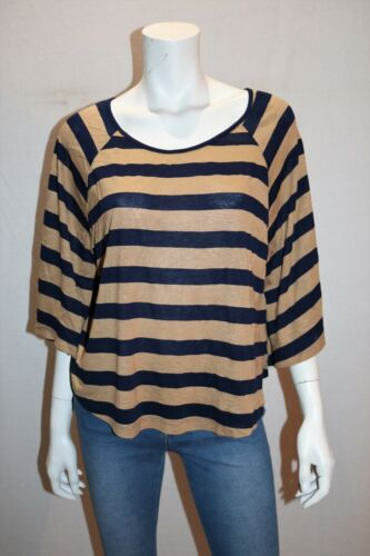 Free Fusion Brand Brown Navy Striped Cape Top Size XL BNWT #SD88