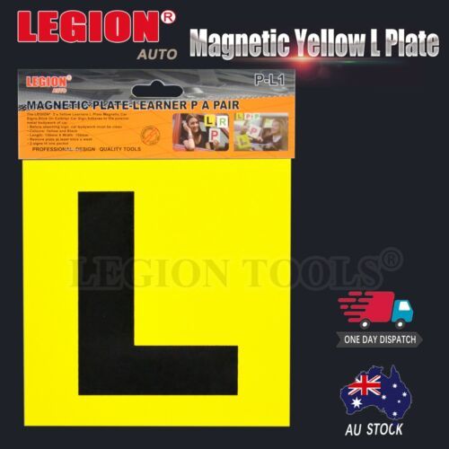 2pcs Learning Learner driver Magnetic Yellow L Plate Car Licence GREEN P RED P