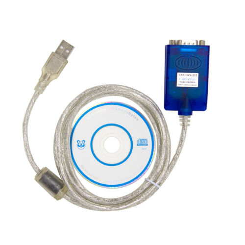 USB to 9-pin DB9 RS232 Serial Cable Adapter Converter Win10 Win8 Win7 32/64bit