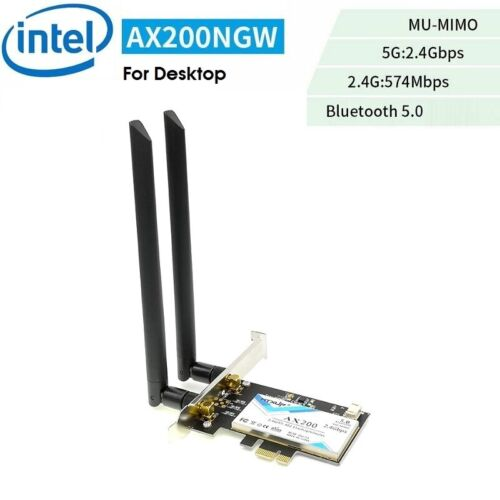 Intel AX200 5G Dual Band 2400M & BT 5.0 PCIE Desktop Wireless Card Adapter WTXUP