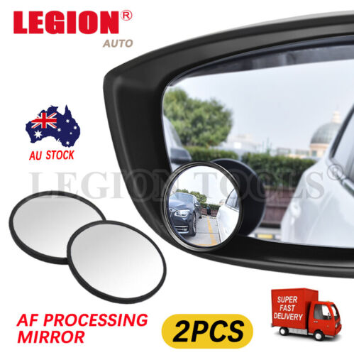 """2pcs Blind Spot Mirror Car Rear Side View Convex Wide Angle round glass 2"""" 50mm"""