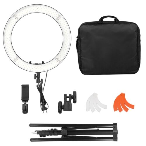"""18"""" LED Ring Light Kit with Stand Dimmable 3200K-5600K for Makeup Video Shooting"""