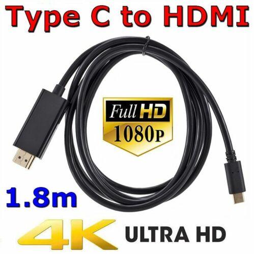 USB C to HDMI Cable USB Type C to HDMI 4K Cord For Samsung S8 S9 S10 + Note 8 9