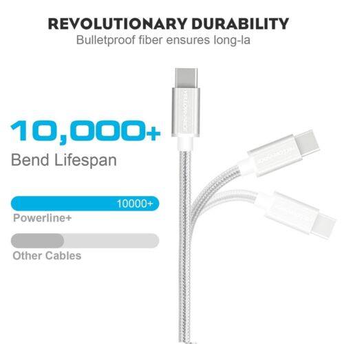 QC 60W 3A USB 3.1 Fast charging Type-C to Type-C Cable For Macbook (15cm 1m 2m)