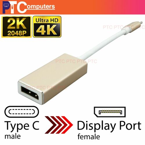 15cm Type-C USB 3.1 to Display Port DP Female 4K Video Converter Adapter Cable