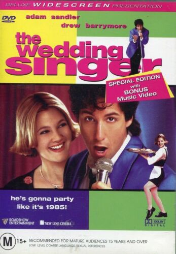 The Wedding Singer (R4 DVD 2002) Adam Sandler & Drew Barrymore AS NEW FREE POST