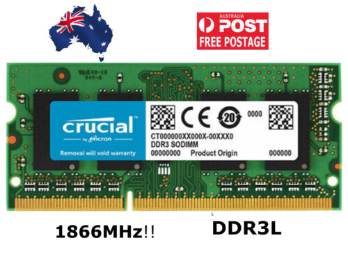 Crucial 4GB DDR3 1866MHz Laptop RAM SODIMM 1.35V Notebook Memory CT4G3S186DJM