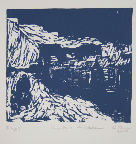 Vic O CONNOR Going Home signed editioned linocut print