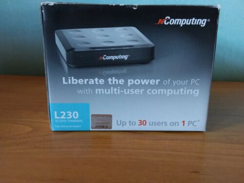 NComputing L230 Access Terminal Fast Ethernet bases up to 30 users on 1 PC