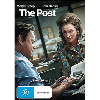 THE POST DVD, NEW & SEALED, 2018 RELEASE, FREE POST