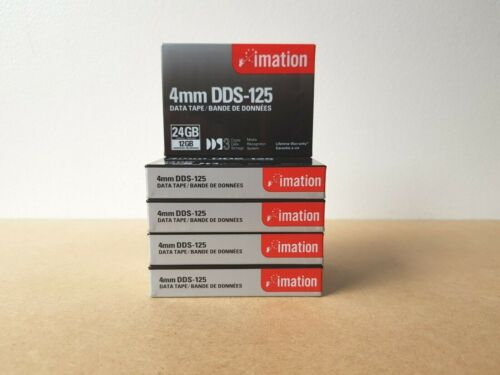 5x Brand New Imation 4mm DDS-125 Data Tape 12/24 GB Made In Japan 2002
