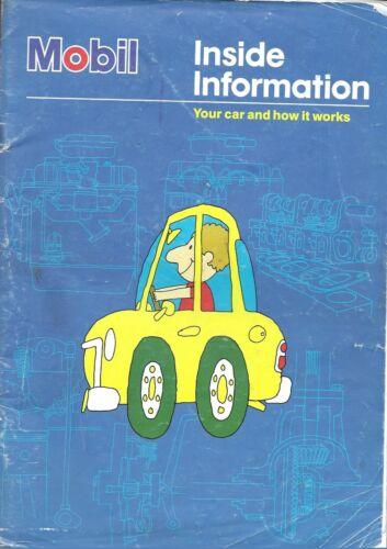 VINTAGE BOOK - MOBIL - YOUR CAR AND HOW IT WORKS, 1992, 44 PAGES ILLUSTRATED
