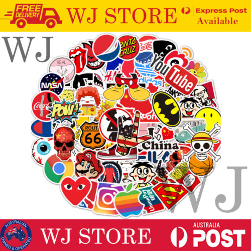 50 Random Cool Vinyl Decal Graffiti Stickers Car Bomb Laptop Waterproof Skate