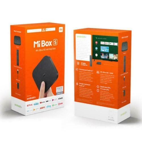 Xiaomi Mi Box S 4K Ultra HD Smart Set TV Box Android 8.1 Google Assistant <br/> Aus Stock, 100% Genuine 1 Yr Warranty, Fast Shipping