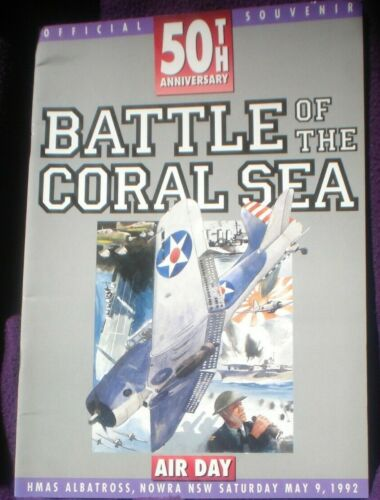 BOOK MILITARY WAR ILLUSTRATED BATTLE OF THE CORAL SEA SOUVENIR MAGAZINE