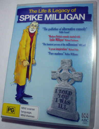 Spike Milligan : The Life & Legacy of doco rare htf R4 ABC DVD - Posted